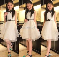 Kids White Dresses Wholesale Girls Hepburn Layered Dress Graduation Party Evening Teenage Teen Clothing Girl Pageant Dresses Clothing 5 7 8 10 12 14 16 Years Party Dresses Kids From Fairness01, $29.04| Dhgate.Com