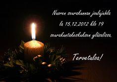 Vuoden 2012 nuortenillat huipentuvat nuoren seurakunnan joulujuhlaan 15.12