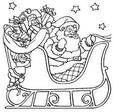 dibujos santa para colorear christmas pinterest