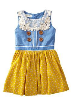 Dot Skirt Dress (Toddler, Little Girls, & Big Girls)