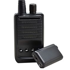 500 Meter Micro Wireless Audio Spying Bug Recording Transmitter and Voice Receiver Set with TF Slot