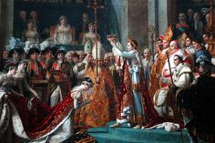 "Jacques-Louis David ""Consecration of the Emperor Napoleon I and Coronation of the Empress Josephine in the Cathedral of Notre-Dame de Paris on 2 December 1804"" (Detail)"
