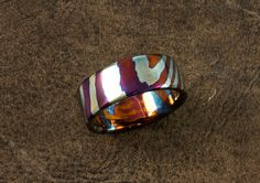 Extra thick Timascus Wedding Ring Wedding Rings Pinterest Ring