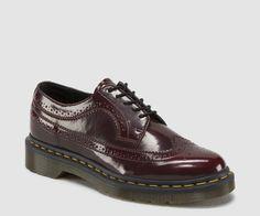 Dr Martens Cherry Red Brogue Wingtip Shoe 3989