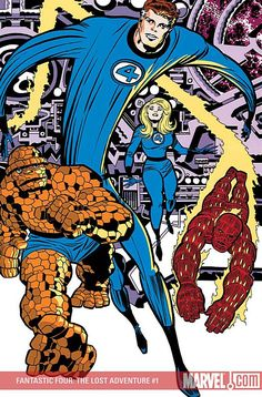 The Fantastic Four (created by Stan Lee and Jack Kirby, debuted 1961 in their own comic book series from Marvel Comics) Comic Book Artists, Comic Book Characters, Comic Book Heroes, Marvel Characters, Comic Books Art, Comic Art, Marvel Comics Superheroes, Marvel Comics Art, Marvel Heroes
