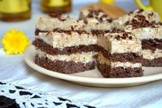 Prajitura cu cacao si crema de biscuiti Romanian Desserts, Tiramisu, Biscuit, Cake Recipes, Caramel, Sweet Treats, Cheesecake, Food And Drink, Gluten