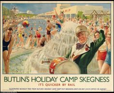 Posters capturing golden age of British seaside resorts expected to get £100k at auction | Daily Mail Online
