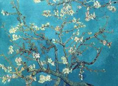 'Branches with Almond Blossom', 1890 by Vincent van Gogh.