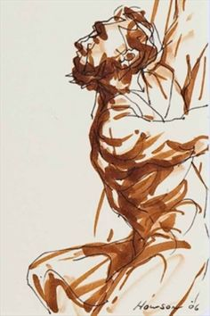Peter Howson, i like the style of this drawing Figure Drawings, Figure Sketching, Guy Drawing, Life Drawing, Pen Sketch, Art Sketches, Peter Howson, Art Types, Modern Drawing