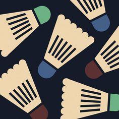 Badminton Birdie / pattern by Anna Kovecses, via Behance