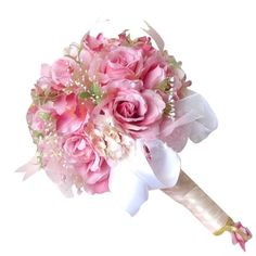 Image result for white wedding bouquet with pale pink
