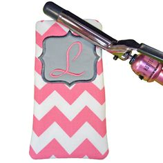 """Uptown Curling Iron Cover  5x7 - A jet-setting girls must-have accessory! This trendy curling iron cover is made with insulated batting so you can simply throw your curling iron or flat iron inside, tuck the cord in the back pocket, and away you go! Set comes with all 26 letters of the alphabet built right in to the design. This set fits 5x7 hoops. If you have a 6x10 or larger hoop, we recommend the 6x10 version of this set.  Hoop size: 5x7  Design size: 4.87"""" x 6.9""""  Stitch …"""