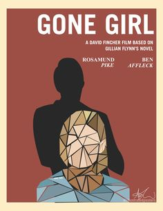 """""""Gone Girl"""" Alternative Movie Poster. Made using Adobe Illustrator. You must ask permission if you want to use this image in any sort of way. CONTACT ME USING E-MAIL. Woman Movie, Gone Girl, Alternative Movie Posters, Movie Poster Art, Human Art, Films, Movies, Film Movie, Adobe Illustrator"""