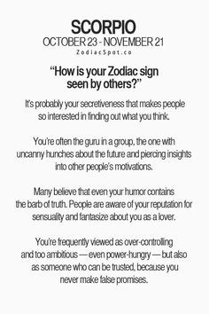 Scorpio - how other signs see you.