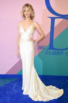 Meg Ryan in Christian Siriano at the 2017 CFDA Fashion Awards #2017