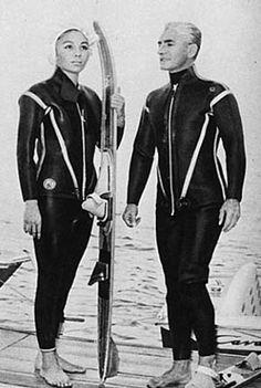 Shah and Shahbanu water ski session