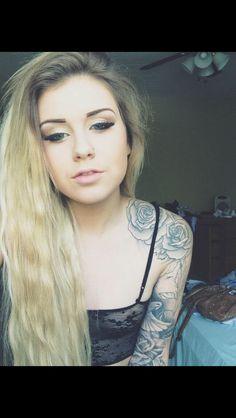 Rose tattoo sleeve girl