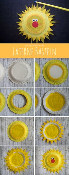 Schnell & Einfach: Laterne basteln aus Papptellern Fast & easy: make lantern from paper plates Diy Crafts To Do, Crafts For Kids, Arts And Crafts, Paper Plate Crafts, Paper Plates, Summer Crafts, Fall Crafts, How To Make Lanterns, Lantern Making