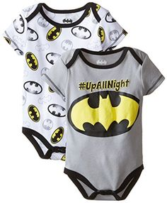 Warner Brothers Baby Baby-Boys Newborn Batman Shield 2 Pack Bodysuit, Gray, 0-3 Months Warner Brothers Baby http://www.amazon.com/dp/B00XYDZ24O/ref=cm_sw_r_pi_dp_jg6awb1E464TX