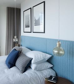 Installing Pendant Lights In  Bedroom - This bedroom in a London penthouse, designed by Amos and Amos.