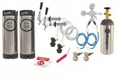 """Kegco Two Keg Door Mount Homebrew Kegerator Kit Ball Lock w/ 5lb Tank - EB2SHCKBALLKEG5T-5T . $374.99. 2 - Reconditioned Ball Lock kegs (new gaskets shown are installed). 5 lb co2 tank (shipped empty). Regulator with 2 way splitter. 2 - 60"""" Liquid lines with 4 1/2"""" Chrome nipple shanks, faucets, handles and ball lock connectors. 2 gas ball lock connectors each with 1/4"""" 5' air hoses. Complete 2 keg setup includes everything you need to mount two taps in the door of a ..."""