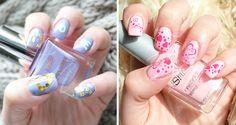 Desarrollo sencillo de Nail art para San Valentín, tonalidades rosas, o azules para las menos atrevidas, utilizando la técnica mano alzada. http://femeni-nails.com/random/last-minute-nail-art-para-san-valentin/