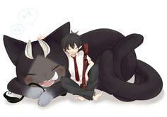 Blue Exorcist - Kuro and Rin Me Me Me Anime, Anime Guys, Manga Anime, Anime Art, Kuro Ao No Exorcist, Blue Exorcist Anime, Rin Okumura, Dbz, Satan