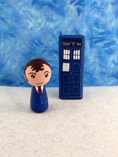Doctor Who Peg People 10th Doctor Kokeshi by MakingsFromMommyland, $20.00