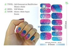 5 Sheet, Water Transfer Foil Nails Art Sticker Colored Glitter Fashion Manicure Sticker Solvent Resistant Glitter Nail Decor Decal *** See this great product.