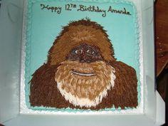 Sasquatch! Bigfoot birthday cake