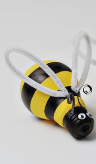 Spring craft idea for kids bumble bee with a light blub