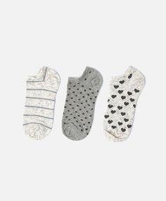3-pack of hearts socks - OYSHO