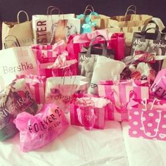 I wanna go on a shopping spree and come back with this much stuff