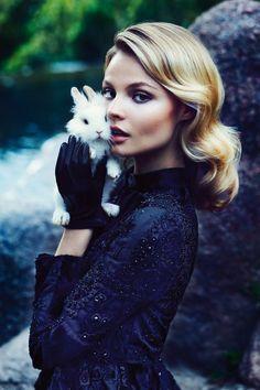 Magdalena Frackowiak photographed by Zuza & Bartek for Pani, September 2012 #magdalena frackowiak #bunny #rabbit (Thx Fernanda)