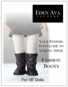New Eden Ava Fashion Boots pattern available on Liberty Jane Clothing site!   Love them!