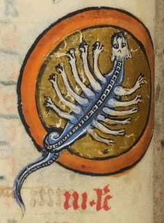 """Detail from """"The Rutland Psalter"""", medieval (c1260), British Library Add MS 62925. f 5v"""