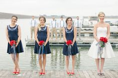 red and navy nautical wedding,red and blue nautical wedding,nautical red wedding theme ideas,beach nautical wedding,beach nautical wedding ideas Nautical Wedding Inspiration, Nautical Wedding Theme, Wedding Themes, Wedding Colors, Wedding Ideas, Anchor Wedding, Wedding Details, On Your Wedding Day, Blue Wedding