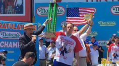 Joey Chestnut Wins Nathan's Hot Dog Eating Contest in Record-Breaking Display of Competitive Eating