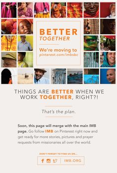 Want more pictures & stories from around the world? Soon this account will merge with @IMB_SBC to give you more.