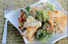Vegan Broccoli Cheese Pasta Bake