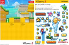 Diorama, Super Mario Coloring Pages, Nintendo Switch System, World Crafts, Play, Yoshi, Growing Up, Dreaming Of You, Card Stock