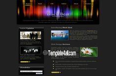 Website Templates - Black CSS Template Design #css #black #websitetemplates #csstemplate