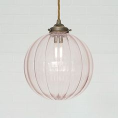 Fulbourn Dusky Pink Colored Glass Pendelleuchte in Antik Messing - Alles über Ceiling Shades, Ceiling Rose, Ceiling Lights, Glass Light Shades, Glass Pendant Light, Glass Lights, Pendant Lamp, Pendant Lighting Bedroom, Industrial Pendant Lights