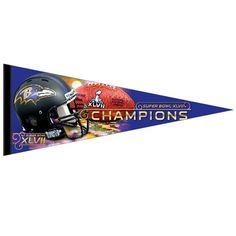 Baltimore #Ravens Super Bowl XLVII Champs Premium Pennant. Click to order! - $9.99