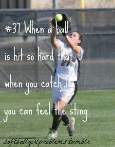 Softball Problems-especially as a catcher...