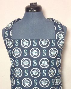 Seattle Mariners Full Size Barbecue Apron by AuntShellDesigns