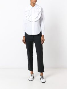 Comme Des Garçons ruffled shirt, shop now at Farfetch