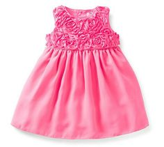 Satin Rosette Dress Set from Carter's.  Sweet rosettes bloom all over this fancy dress. Satin fabric and tulle overlay make it oh-so-cute for special occasions.  Get your rebate from RebateGiant.