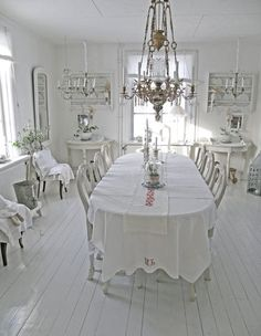 White loveliness...dining room home decor