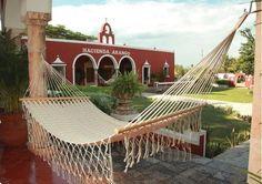 American Style Mayan Hammock with Spreader Bar- Natural